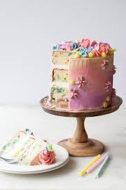 Pastel Buttercream Sprinkle Birthday Cake Layered Cakeslight