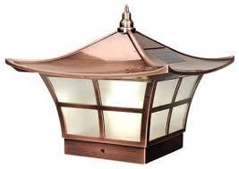 oriental outdoor lighting. oriental outdoor lighting ambience solar post light cap copper asian by g