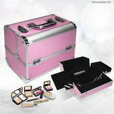 portable cosmetics carry case makeup box pink