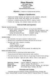 Resume for front desk receptionist in medical Free Sample Resume Cover  medical transcription resume examples medical