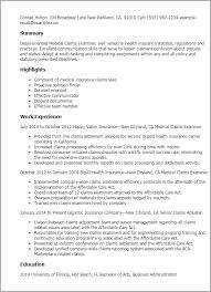 Resume Templates: Medical Claims Examiner