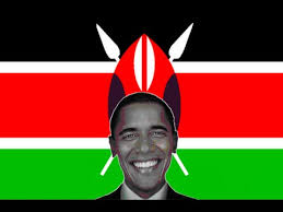 Image result for kenyan flag obama