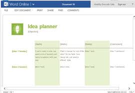 Brainstorm Template Word Idea Planner Template For Word Online