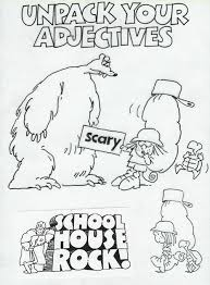Small Picture Adventures with Adjectives School house rocks Schoolhouse rock