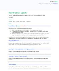 employee accomplishment report sample 6 awesome weekly status report templates free download