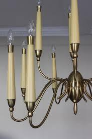 stylish 1950s italian brass chandelier