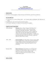 Dancer Resume Vendor Relationship Manager Sample Resume Credit