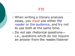 "notes on ""macbeth"" essay ppt  fyi when writing a literary analysis essay you must use either the reader or the"