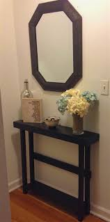 hall console table with mirror. Furniture:Half Moon Entry Hall Console Table Shaped Tables Small Glass Foyer Mirror Black Cappuccino With D