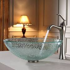sinks bowl bathroom sinks vessel sink home depot trendy gass sink with faucet design