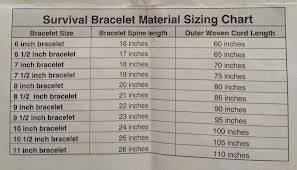 Bracelet Size Chart Men Paracord Bracelet Size Chart Google Search Paracord