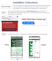 Nalc Track Hours App National Association Of Letter