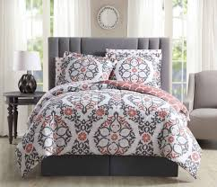 c and white striped bedding navy grey