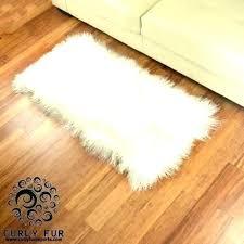 mainstays mongolian faux fur figural rug sheepskin black 2 x 4 lamb natural diamond white genuine