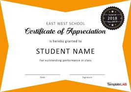 018 Certificate Of Appreciation Template Free Ideas Student