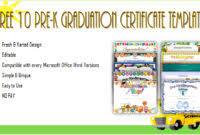 Preschool Graduation Certificate Editable Preschool Graduation Certificate Editable Free Biya Templates