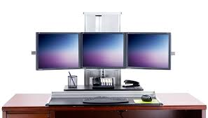 ds100 triple monitor desk stand intended for ds100 triple monitor desk stand large home office