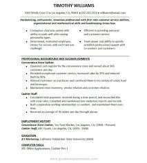 Resume Fast Food Restaurant Resume