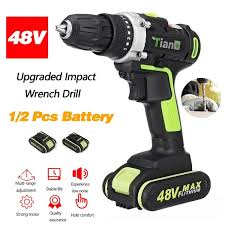 1 or 2 Battery <b>48V</b> Upgraded Version Brushless <b>Cordless Impact</b> ...