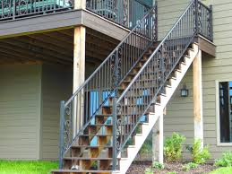Custom Stair Railing Iron Railing Midwest Iron Doors