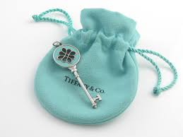 details about tiffany co silver blue enamel knot key pendant charm 4 necklace bracelet