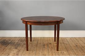 danish round rosewood dining table photo 1