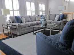 grey and navy living room classic gray family transitional blue ideas