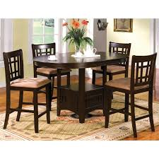 furniture of america koline 7 piece round counter height dining set