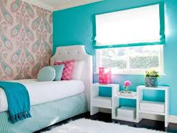 Small Bedroom Designs For Teenage Girls Lovely Skyblue Girl Bedroom With Cool Wall Painting Radioritascom