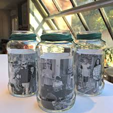 Glass Jar Table Decorations Mason Jar Photo Centerpieces MomOf100 33