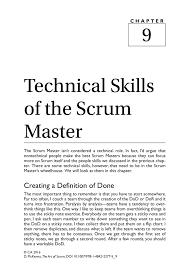 technical skills of the scrum master springer the art of scrum the art of scrum