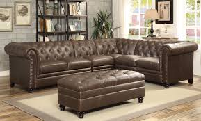 coaster roy buttontufted sectional sofa with armless chair