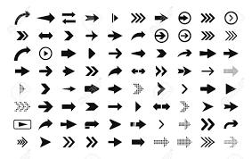 Web Design Arrows Arrows Big Set Of Black Flat Icons Symbols Signs Arrow Icon