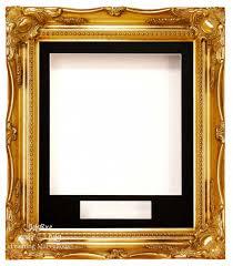 gold swept ornate deep box frame 12x10 black 2 mount white back