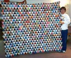 69 best Charm Quilts & Millennium Quilts images on Pinterest ... & One-patch quilt: I made this pyramid charm quilt top all by hand. Adamdwight.com