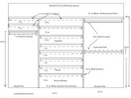closet dimensions guide closet design