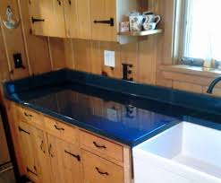 custom french country blue kitchen counter top for client in ne ohio