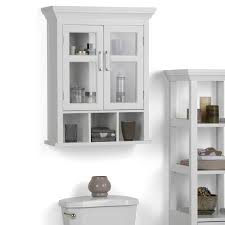 White bathroom wall cabinets Bath Wyndenhall Hayes Two Door Bathroom Wall Cabinet With Cubbies In White Overstock Shop Wyndenhall Hayes Two Door Bathroom Wall Cabinet With Cubbies In