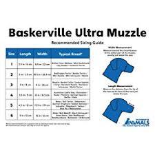 Baskerville Muzzle Size Chart Baskerville Ultra Muzzle Black Size 5