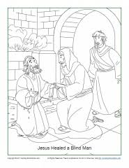 One of the major themes in john's gospel is glory and glorification. the synoptic gospels (especially luke) feature the angel's glorious announcement of jesus' birth, the glory of the. Jesus Healed A Blind Man Coloring Page John 9 1 7