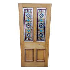 original 4 panel stained glass door