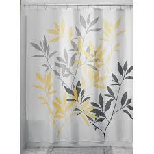 gray and yellow shower curtain fabric shower curtain