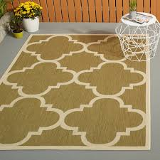 awesome indoor outdoor rugs in safavieh courtyard quatrefoil green beige rug
