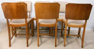 art deco dining furniture. set of six walnut dining chairs in the art deco style furniture n