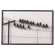 birds on a wire wall decor bird wall