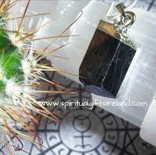 black tourmaline gemstone pendant necklace