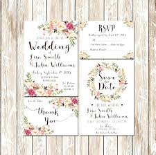 custom wedding invitation kits projects craft ideas how pink fl rustic water color wedding invitation kit