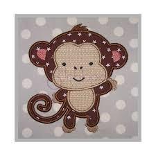 Machine Applique Designs Baby Animals Monkey Applique Design