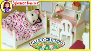 Great Sylvanian Families Calico Critters Girls Bedroom Set Unboxing Review Play    Kids Toys   YouTube