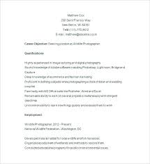 Photographer Resume Template Free Assistant Professional Creative ...